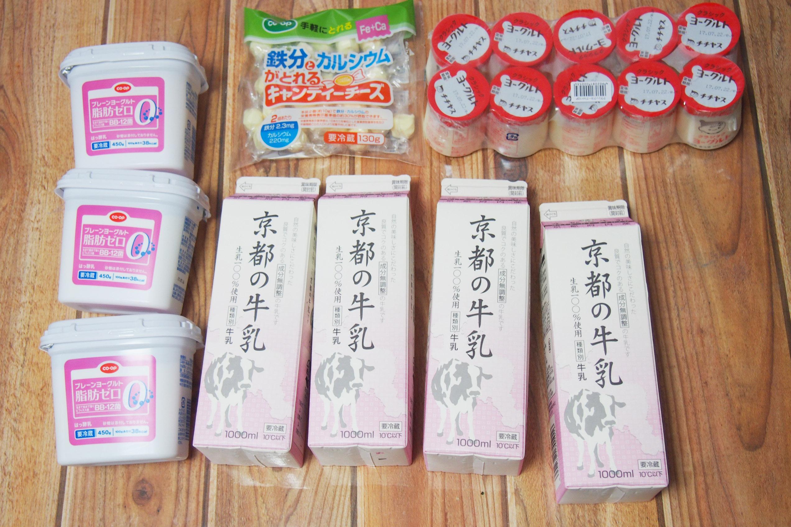 京都生協7/5到着分 乳製品